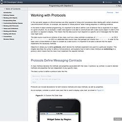 Programming with Objective-C: Working with Protocols