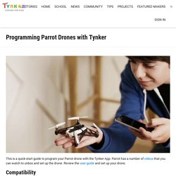 Programming Parrot Drones with Tynker