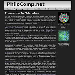 Programming for Philosophers