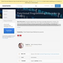 Functional Programming Principles in Scala