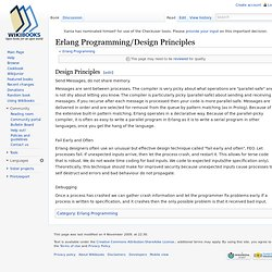Erlang Programming/Design Principles