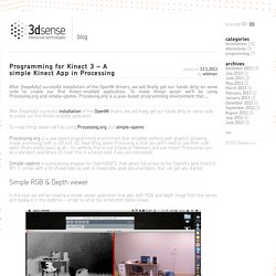 Programming for Kinect 3 – A simple Kinect App in Processing