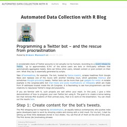 Programming a Twitter bot in R