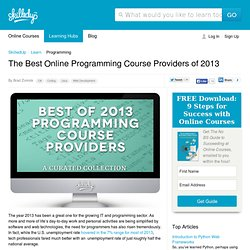 The Best Online Programming Course Providers of 2013.