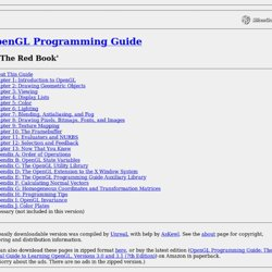 OpenGL Programming Guide (Addison-Wesley Publishing Company): Table of Contents