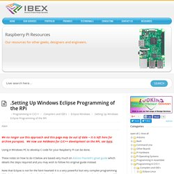 .Setting Up Windows Eclipse Programming of the RPi – Raspberry Pi Projects