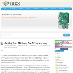 .Getting Your RPi Ready For C Programming – Raspberry Pi Projects