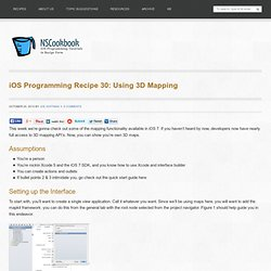 iOS Programming Recipe 30: Using 3D Mapping