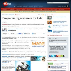 Programming resources for kids 101
