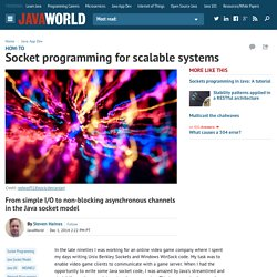 Socket programming for scalable systems