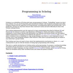 Programming in Schelog