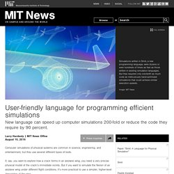 User-friendly language for programming efficient simulations