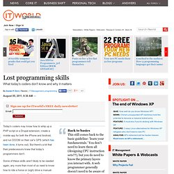 Lost Programming Skills | PCWorld