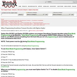 KB33: Programming Soundtraxx Tsunami Decoders with Digitrax Zephyr
