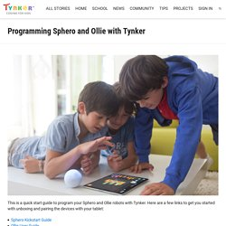 Programming Sphero and Ollie with Tynker