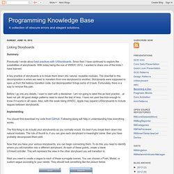 Programming Knowledge Base: Linking Storyboards