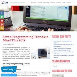 K12 Programming Strand: CIIT Reveals 2017 Programming Trends