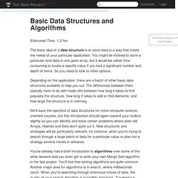 Common Data Structures and Algorithms