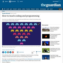 How to teach coding and programming