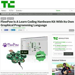 FlowPaw Is A Learn Coding Hardware Kit With Its Own Graphical Programming Language