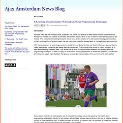 E-Learning Using Semantic Web and End-User Programming Techniques | Ajax Amsterdam News Blog