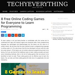 8 Free Online Coding Games for Everyone to Learn Programming - TechyEverything
