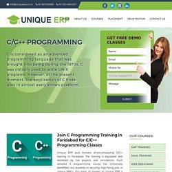 C Programming Training in Faridabad, C Programming Classes