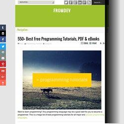 550+ Best Free Programming Tutorials, PDF & eBooks