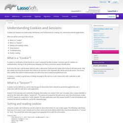 Lasso Programming: Tutorial: Understanding Cookies and Sessions