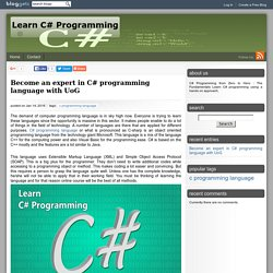 Become an expert in C# programming language with UoG