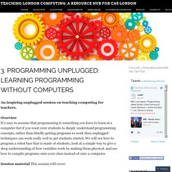 3. Programming unplugged: learning programming without computers