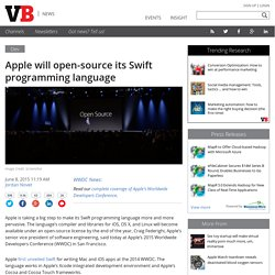 Apple will open-source its Swift programming language