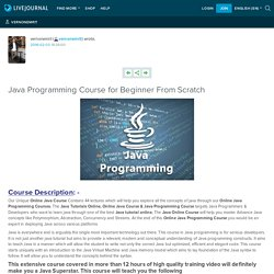 Java Programming Course for Beginner From Scratch: vernonemrit