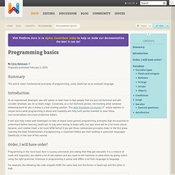 programming basics · concepts