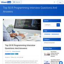 Top 50 R Programming Interview Questions And Answers