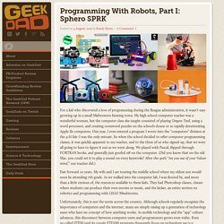 Programming With Robots, Part I: Sphero SPRK