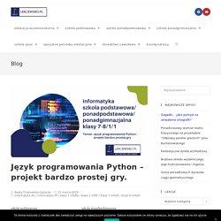 Język programowania Python – projekt bardzo prostej gry. - Lekcje w sieci