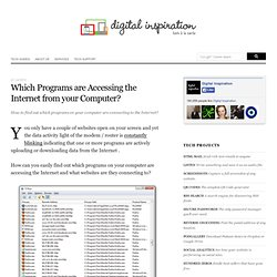 What Programs are Accessing the Internet?