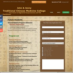 Chinese Medicine & Acupuncture School Toronto