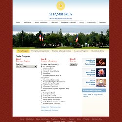 Programs & Events Calendar - Shambhala
