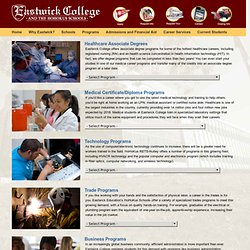 Programs of Study | Eastwick College and the HoHoKus Schools