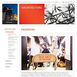 Department of Architecture - UC Berkeley - Bachelor of Arts in Architecture
