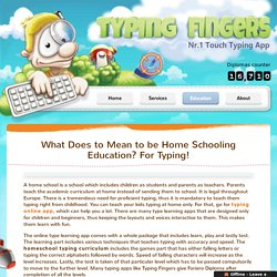 Homeschool Typing Curriculum - Typing Fingers