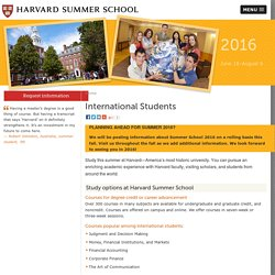 Summer Programs for International Students