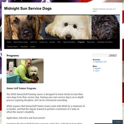 Midnight Sun Service Dogs