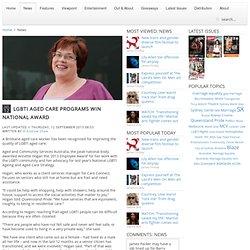 LGBTI aged care programs win national award