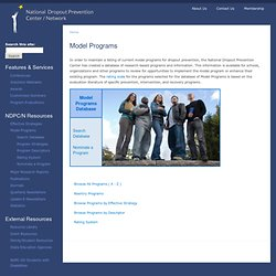 Model Programs | National Dropout Prevention Center/Network