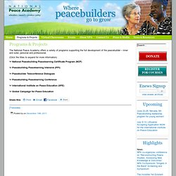 Programs & Projects » NationalPeaceAcademy.us