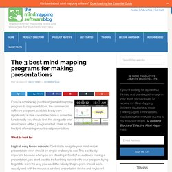 The 3 best mind mapping programs for making presentations