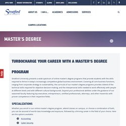Enroll in Online Master's Degree Program